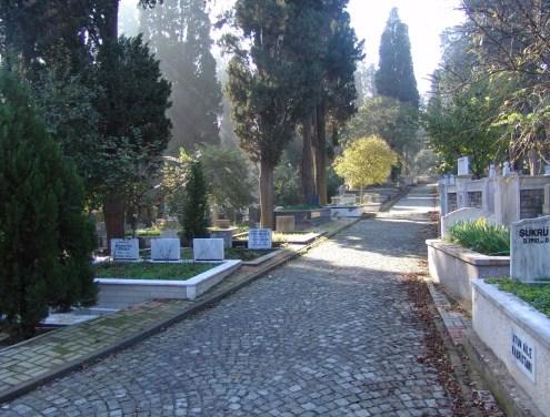 Karacaahmet Mezarlığı in Üsküdar, Istanbul, Turkey