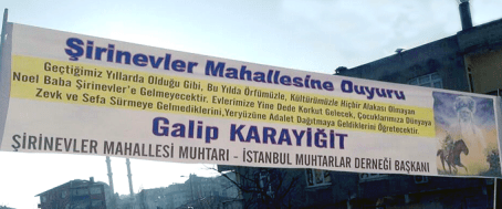 """Santa Claus isn't coming to Şirinevler"" – courtesy of püfterem.com"