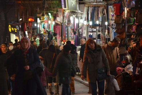 One of Bursa's markets in Bursa, Turkey