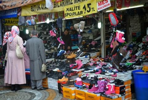 Shoe store in Üsküdar, Istanbul, Turkey