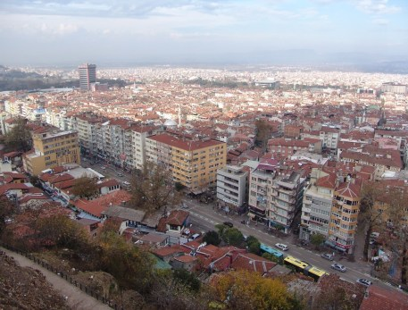 View of Bursa at Tophane, Bursa, Turkey