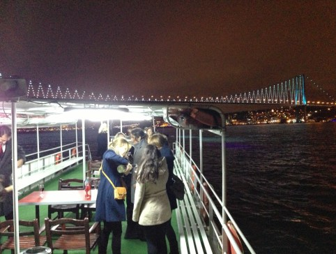 The boat on New Year's Eve in Istanbul, Turkey