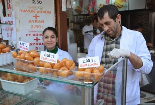 Lokma stand in Üsküdar, Istanbul, Turkey