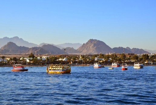 Sharm el-Sheikh from the boat, Egypt