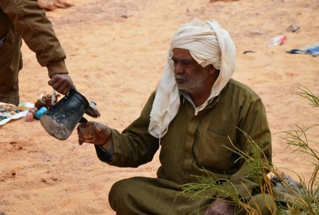 Bedouin tea at the Fake Colored Canyon in Sinai, Egypt