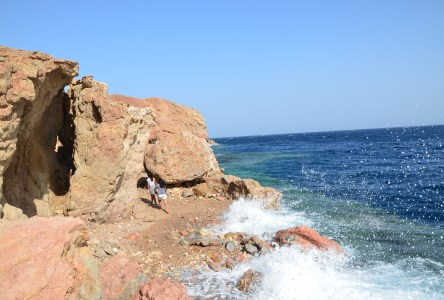 Entrance for snorkelers at Abu Galom in Sinai, Egypt