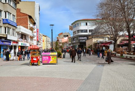Cumhuriyet Caddesi in Kütahya, Turkey