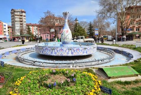 Kütahya pottery fountain in Kütahya, Turkey