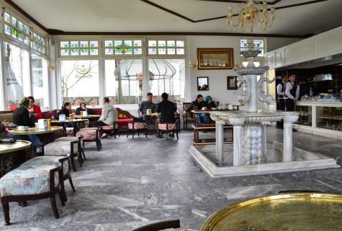 Café at Büyük Çamlıca Tepesi in Istanbul, Turkey