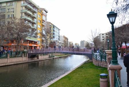 Porsuk River in Eskişehir, Turkey