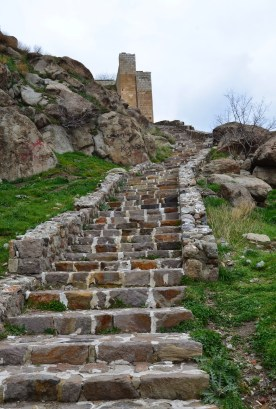 The steps up to Afyon Kalesi in Afyon, Turkey