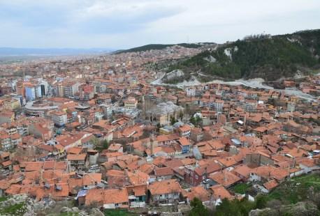 The view from Kütahya Kalesi in Kütahya, Turkey