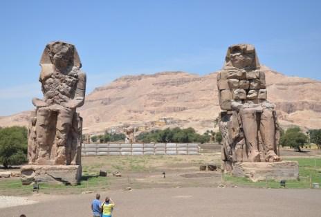 Colossi of Memnon in Luxor, Egypt