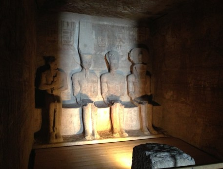 Inner Sanctuary at the Temple of Ramses II at Abu Simbel, Egypt