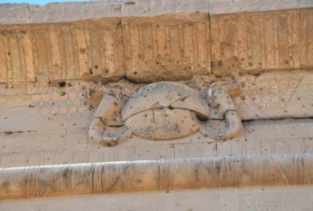 Bullet holes from Napoleon's army at the Temple of Edfu, Egypt