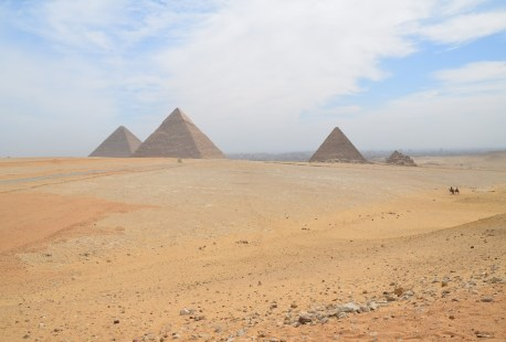 Not a million dollar view, but close enough at the Pyramids of Giza in Egypt