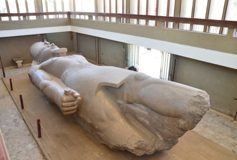 Colossus of Ramses II in Memphis, Egypt