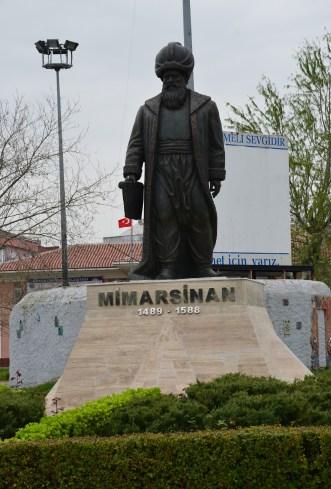 Mimar Sinan statue in Büyükçekmece, Istanbul, Turkey