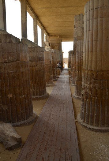 Colonnaded entrance of the Step Pyramid of Djoser at Saqqara, Egypt