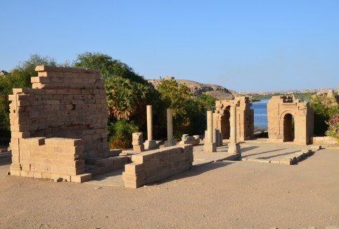 Early Byzantine church at Philae Temple on Agilkia Island in Egypt