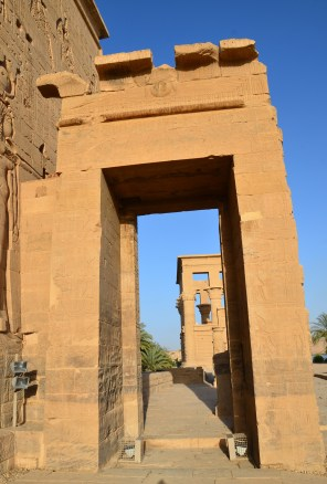 Gate of Ptolemy Philadelphus at Philae Temple on Agilkia Island in Egypt