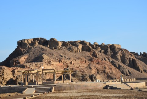 Ancient mud brick homes in Edfu, Egypt