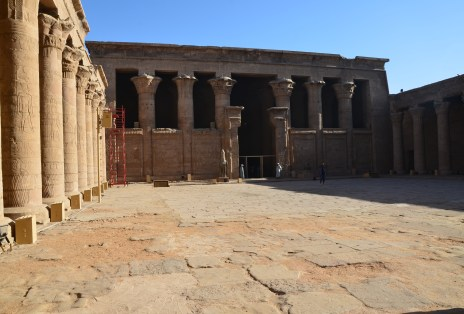 Courtyard at the Temple of Edfu, Egypt