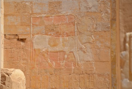 Chapel of Hathor at the Temple of Hatshepsut in Luxor, Egypt