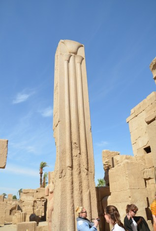 Papyrus column at Karnak Temple in Luxor, Egypt