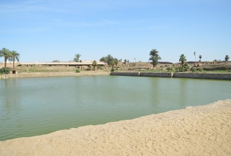 Sacred Lake at Karnak Temple in Luxor, Egypt