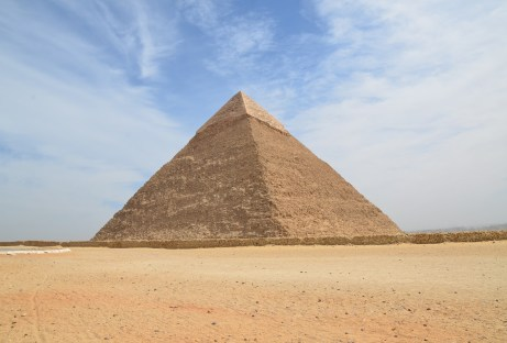 Pyramid of Khafre at the Pyramids of Giza in Egypt
