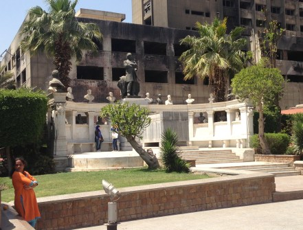Egyptian Museum garden in Cairo, Egypt