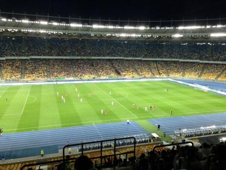 Dynamo Kiev vs Illichivets Mariupol at Olimpiyskiy National Sports Complex in Kiev, Ukraine
