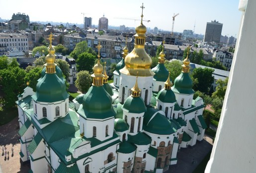 St. Sophia Cathedral from the bell tower in Kiev, Ukraine