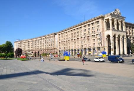 Central Post Office at Maidan Nezalezhnosti in Kiev, Ukraine