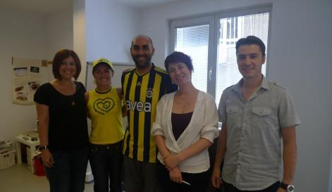 An English class in July 2011 in Istanbul, Turkey