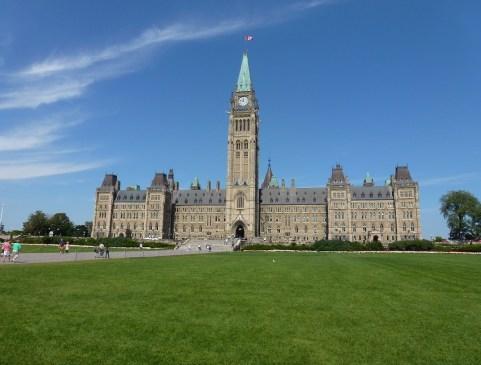 Centre Block at Parliament Hill in Ottawa, Ontario, Canada