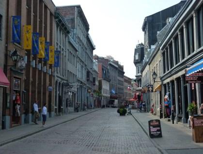 Rue Saint-Paul in Vieux-Montréal, Québec, Canada