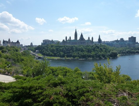 Parliament Hill from Nepean Point in Ottawa, Ontario, Canada