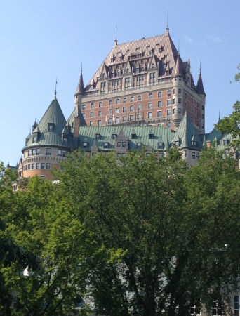 Château Frontenac from Parc Montmorency in Québec, Canada