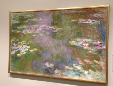 Water Lily Pond by Claude Monet (1917/19) at the Art Institute of Chicago