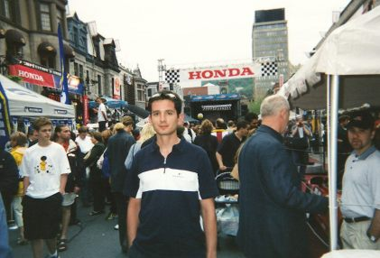 Rue Crescent during the 2002 Canadian Grand Prix in Montréal, Québec, Canada
