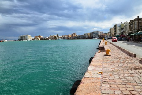 Harbor in Chora, Chios, Greece