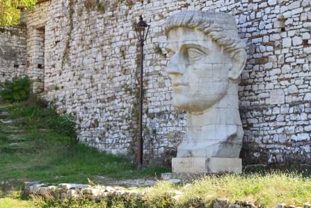 Bust of Constantine in Berat, Albania