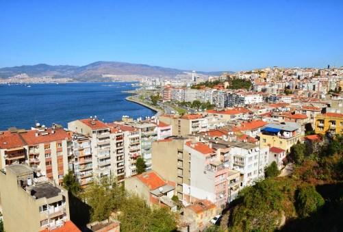 View from the top of Asansör in Izmir, Turkey