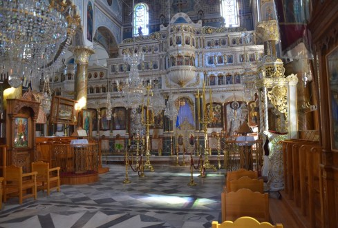 Taxiarchi Church in Mesta, Chios, Greece
