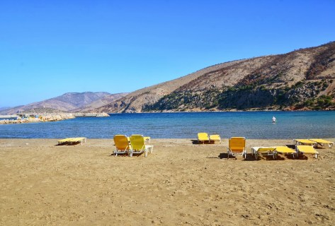Lithi beach in Chios, Greece