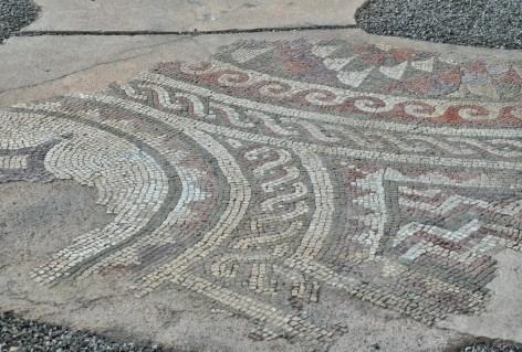 Roman mosaic in Tiranë, Albania