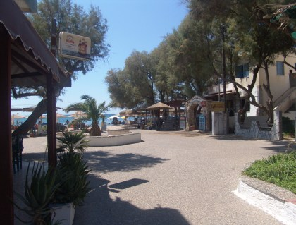 Komi beach in Chios, Greece