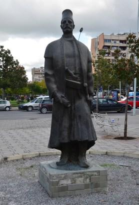 Statue of Sulejman Pashë Ballgjini in Tiranë, Albania